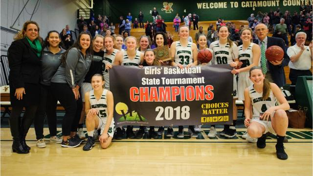 Sights from St. Johnsbury's win over CVU in the D-I girls basketball final. Photos taken by Brian Jenkins.