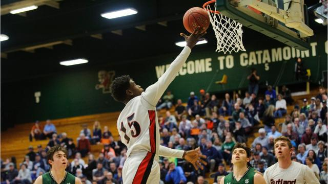Rutland boys basketball will defend their state championship crown after pushing aside St. Johnsbury, 60-35.