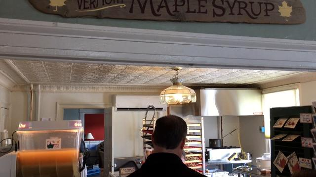 Paul Palmer of Palmer Lane Maple in Jericho talks about the tradition of mixing syrup with franks.