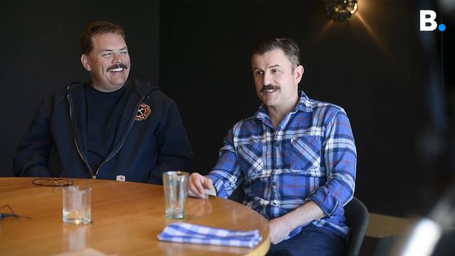 """Actors from the cult classic """"Super Troopers"""" and the new """"Super Troopers 2"""" recall their experience with a Vermonter's matter of fact way of speaking in Burlington on Thursday, April 5, 2018."""