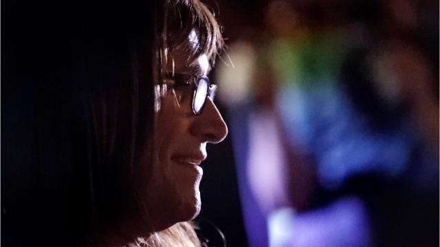 Christine Hallquist, the Democratic candidate for governor, says she can connect all Vermonters to high-speed internet by requiring electric companies to hang fiber-optic cable.