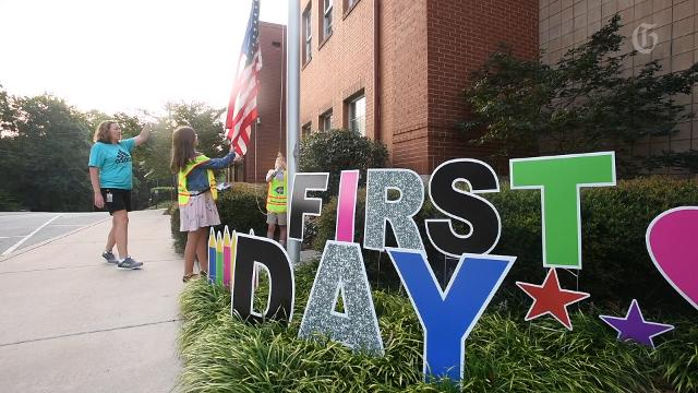 Scenes from the first day of school at different schools in Greenville and Greenville County.