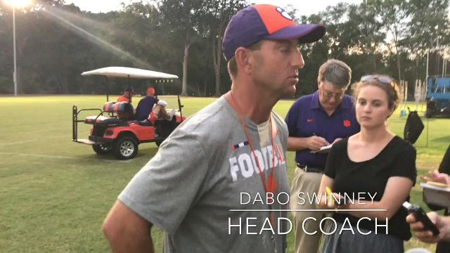Clemson quarterback Kelly Bryant, head coach Dabo Swinney and co-offensive coordinator Tony Elliott weigh in on Bryant being named the Tigers' starter.