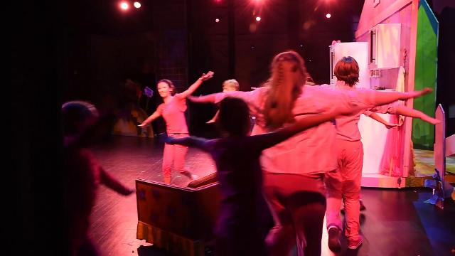 The cast of Pinkalicious The Musical held a dress rehearsal before their opening weekend at the Gunther Theater.