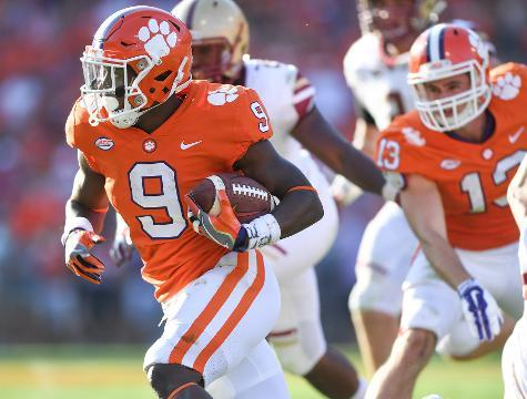 Dabo likes the combination he has at running back