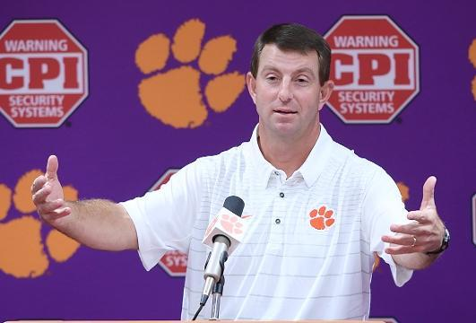 Dabo 'We have what everyone wants, family'.