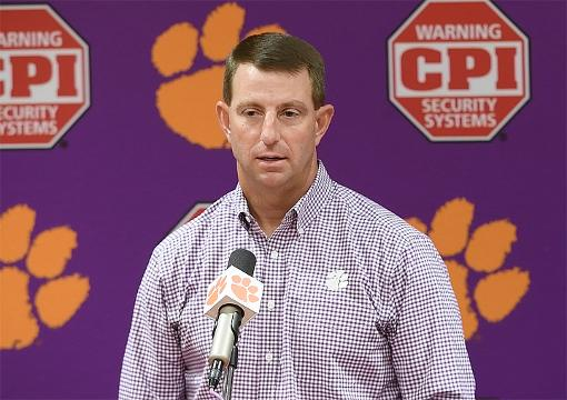 Dabo says Tigers will get Syracuse's best shot.
