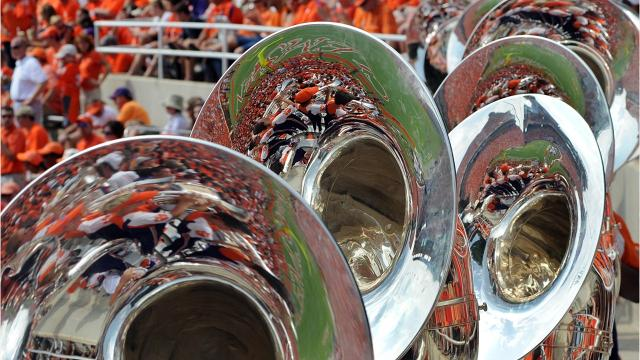 The Tiger Rag, played by the Clemson Tiger Marching Band, with guitar and synthesizer tracks added by Ron Barnett