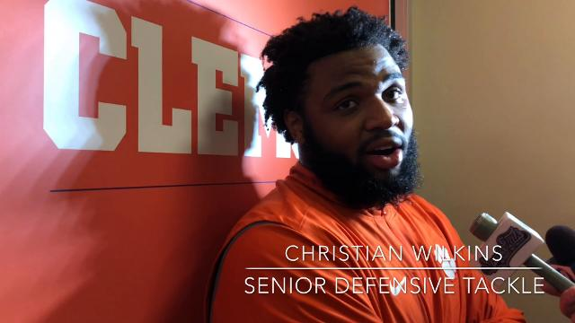 A few Clemson Tigers discuss how they were able to have fun during the team's 24-10 win over Georgia Tech on October 28, 2017.