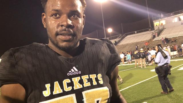 """Senior right tackle talks about """"Getting After the Apple,"""" as Hanna prepares to face Greenwood this week."""
