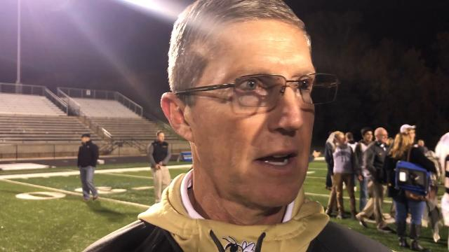 T.L. Hanna Head Football Coach Jeff Herron after game with Greenwood.