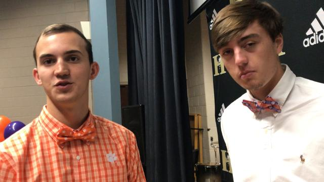 James Parker and Jackson Lindley talk about signing to play baseball at Clemson.