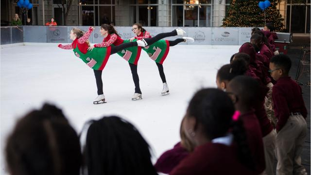 The United Community Bank Ice on Main ice skating rink officially opens for the season in downtown Greenville.