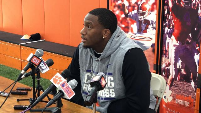 Clemson Tigers defensive end Clelin Ferrell talks about his experiences with South Carolina fans before practice Monday.
