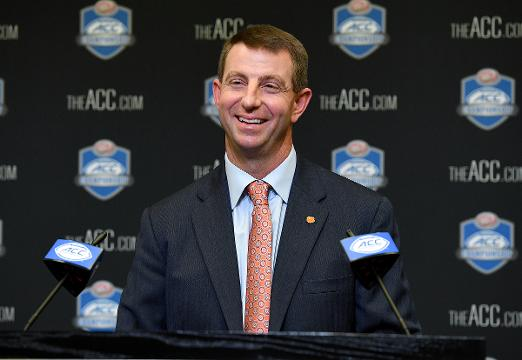 Clemson head coach Dabo Swinney glad he didn't have to rely on cyber jury.