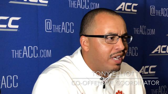 Clemson co-offensive coordinator Tony Elliott shares his thoughts on being named a Broyles Award finalist.