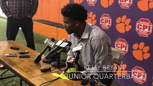 Clemson quarterback Kelly Bryant spoke with the media about being himself in such a high-profile situation during a press conference Wednesday, December 6, 2017.