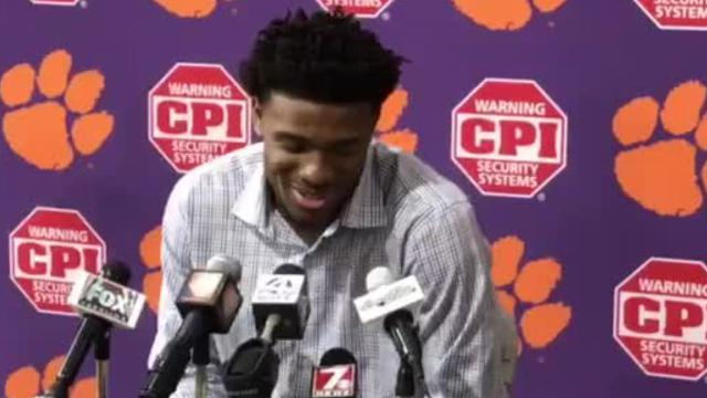 Clemson quarterback Kelly Bryant shares insight into his personality