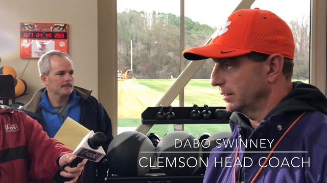 Clemson head coach Dabo Swinney reacts to two of his former coordinators taking new head coach jobs this year.