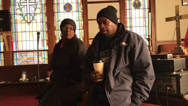 Tracy and Sunshine Gantt talk about their hope to start homeless shelter for Pickens County in an interview inside the sanctuary of their church, New Deliverance, in Easley.