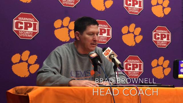 Clemson basketball coach Brad Brownell and senior forward Donte Grantham discuss Grantham's improvement in his final year.