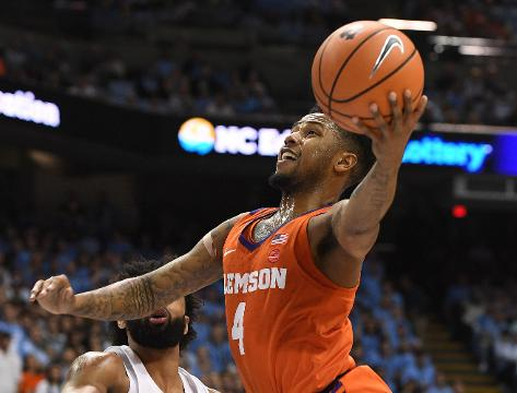 Clemson guard Shelton Mitchell reacts to the Tigers 87-79 loss to North Carolina in Chapel Hill on Tuesday.