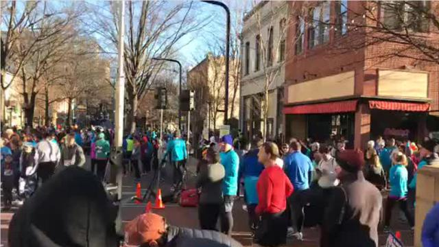 View the run-up and starting of The Greenville News Run Downtown 5K.