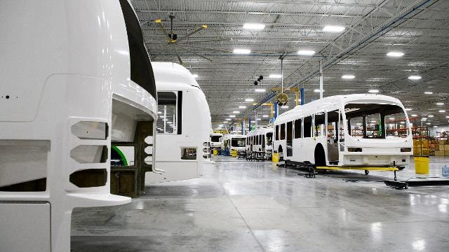 Proterra's electric bus production continues to grow