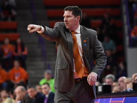 Clemson head coach Brad Brownell after win over Pitt.