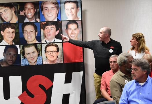 Parents of young men who died at different schools want to put a stop to deaths from hazing. They spoke Friday, Feb. 23, 2018, at #PUSH, a summit in Greenville for anti-hazing.
