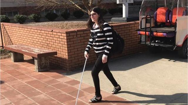Miriam Lozneanu is a student at Clemson University who is thriving despite being nearly deaf and blind. The amazing thing about Miriam is her cheerful attitude.