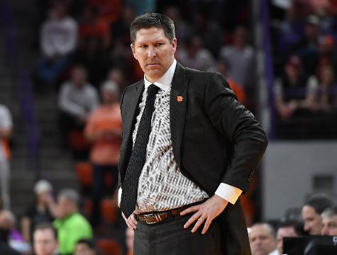 Clemson head coach Brad Brownell after win over FSU.
