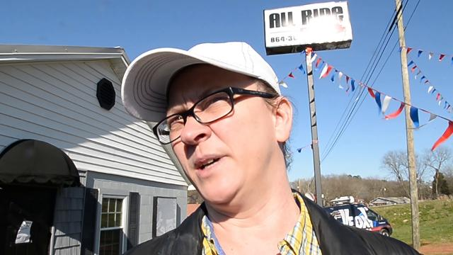 Vickie Worth, sister of Bobby Shane Harvey, manager of the All Ride car sales lot in Anderson, talks about her hope to find him, as family prepare for an evening vigil on Wednesday.