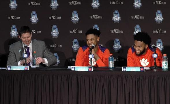 Clemson ACC Tournament press conference after winning over Boston College.