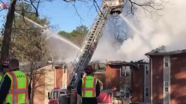 Firefighters responded to an apartment fire at 11 Cross Ridge in Greenville on Friday, March 9, 2018.