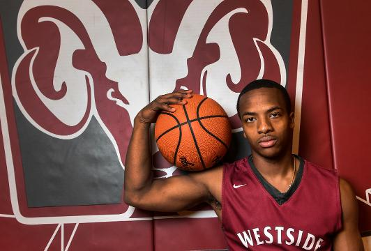 Traye Carson, Westside High basketball guard, is area player of the year.