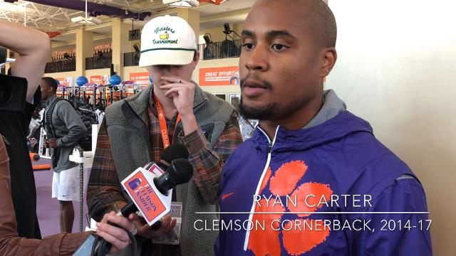 Former Clemson cornerback Ryan Carter discusses his exclusion from the NFL combine and what he hoped to show teams during Clemson's pro day.