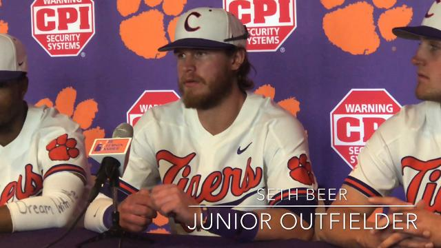 Clemson's All-American outfielder Seth Beer discusses his plate approach during his current hot streak.