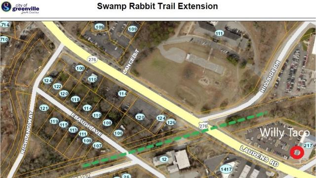 Swamp Rabbit Trail extension will cross Laurens Road with a flyover bridge