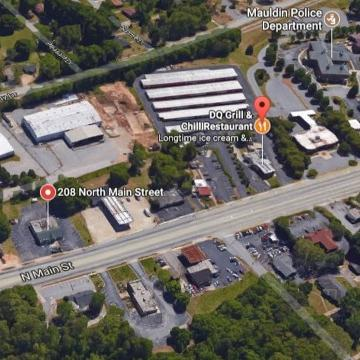Here's the area Mauldin has targeted for its downtown plan.