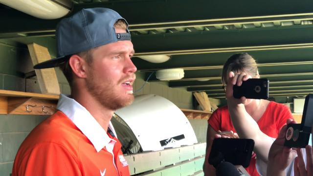 Clemson outfielder Seth Beer became the program's 14th first round draft pick Monday when the Houston Astros selected him No. 28 overall in the 2018 MLB Draft.