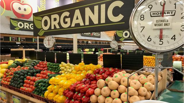 The new Sprouts Farmers Market store is now open in Simpsonville, South Carolina, and features a wide variety of natural and organic products.