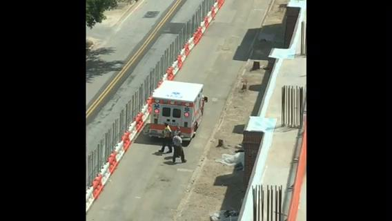 A worker was injured in an accident at the Camperdown Project Wednesday afternoon in Downtown Greenville.