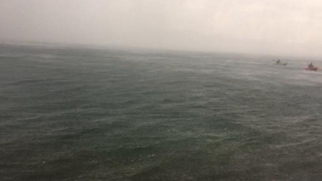 A storm with winds reaching 60 mph hits Lake Jocassee as boaters try to get ashore.