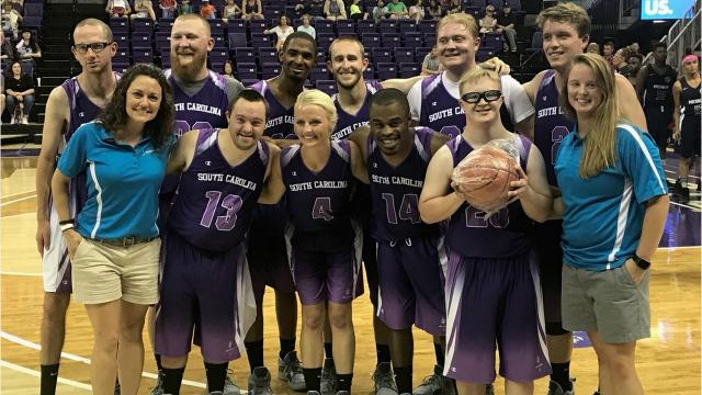 A Greenville County team representing South Carolina won the silver medal in the Unified basketball competition in the Special Olympics USA Games this past week in Seattle, Washington.