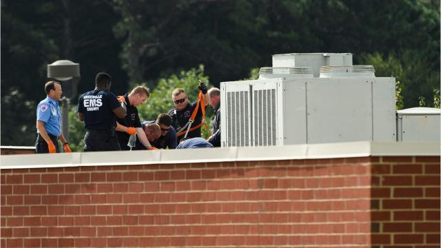 An HVAC worker died after he became unconscious while on the roof of Mauldin Middle School Friday morning.