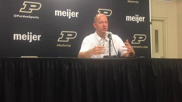 Purdue coach Jeff Brohm previews camp