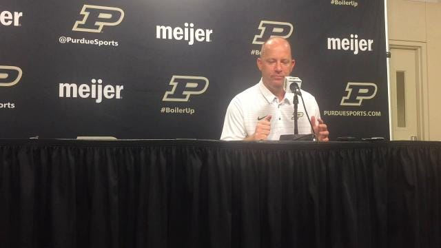 Purdue coach Jeff Brohm on linebackers