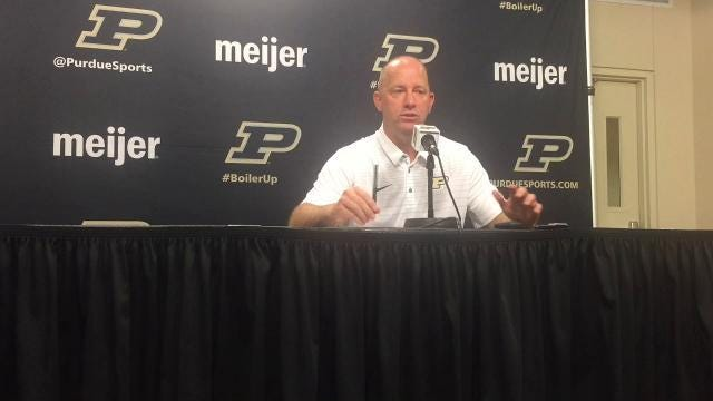 Purdue coach Jeff Brohm on roster competition