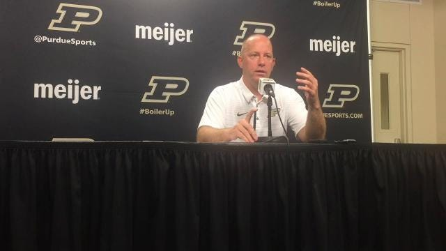Purdue's Jeff Brohm on running back Markell Jones